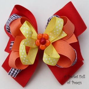 Hair Bow Made to Match Gymboree Island Getaway
